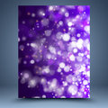 Purple And White Bokeh Abstract Background Royalty Free Stock Photo - 35227925