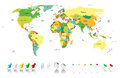 Political World Map Stock Photography - 35230372