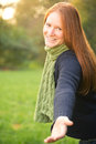 Come With Me - Woman Giving A Hand Royalty Free Stock Photos - 35232218