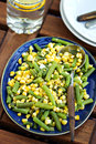 Green Beans With Corn Royalty Free Stock Photos - 35254468