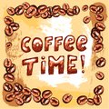 Coffee Time Poster Stock Images - 35257254