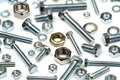 Close Up Various Bolts, Nuts, And Washers Stock Photography - 35260512