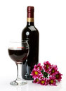 Wine And Flowers Royalty Free Stock Images - 35261389
