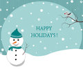 Winter Holidays Postcard Royalty Free Stock Image - 35265476