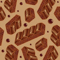 Pieces Of Aerated Chocolate On A Beige Background Royalty Free Stock Photo - 35274255