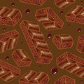 Pieces Of Aerated Chocolate On A Brown Background Stock Image - 35274261
