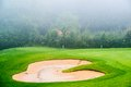 Sand Bunker On The Golf Course. Mexican Resort. Stock Photos - 35275293
