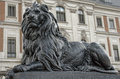 Stone Lion In Front Of The Palace In Pszczyna Royalty Free Stock Photography - 35279287
