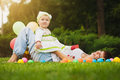 Happy Baby And Mom Are Playing In The Green Park Royalty Free Stock Photos - 35279658