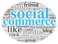 Social Media Commerce Conept In Word Tag Cloud Stock Photography - 35286852