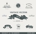 Vintage Styled Premium Quality Labels Royalty Free Stock Photography - 35290077