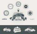 Vintage Styled Premium Quality Labels And Ribbons Collection Wit Royalty Free Stock Image - 35290186