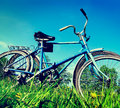 Two Old Bicycle Stock Image - 35291381