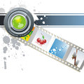 Vector Film Strip Background Collection Royalty Free Stock Photo - 35291805