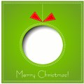 Merry Christmas Paper Greeting Card Stock Images - 35294894