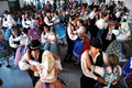 Dancers Dancing In Traditional Slovak Clothes Stock Image - 35298521
