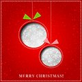 Vector Merry Christmas Paper Greeting Card Stock Photo - 35299970