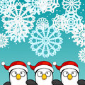 Christmas Background With Penguins Stock Images - 35305184