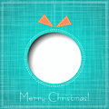 Vector Merry Christmas Paper Greeting Card Royalty Free Stock Image - 35305806