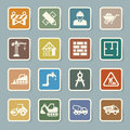 Construction Icons Set Royalty Free Stock Photography - 35306127
