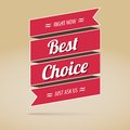 Best Choice Poster, Vector Illustration Royalty Free Stock Photo - 35316885