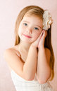 Portrait Of Cute Little Girl In Princess Dress Stock Images - 35324404