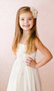 Portrait Of Cute Little Girl In Princess Dress Royalty Free Stock Photo - 35324415