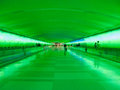 Detroit Airport Walkway - Green Royalty Free Stock Image - 35329836