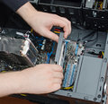 Installing Of Graphic Card Royalty Free Stock Images - 35333819