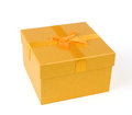 Yellow Gift Box Stock Images - 35334094