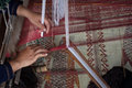 Process Of Weaving Thai Silk Royalty Free Stock Images - 35339439