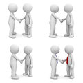 Collection Of 3d People Handshake Isolated On White Stock Photography - 35343732