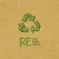 Recycled Paper With Eco Sign Royalty Free Stock Photography - 35345287