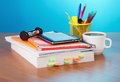 Book, E-book, Pencils In Support Stock Image - 35351881