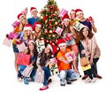 Group People And  Santa. Stock Photography - 35353682