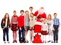 Group Of Children With Santa Claus. Royalty Free Stock Photo - 35353765