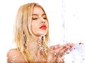 Wet Woman Face With Water Drop. Stock Images - 35353894