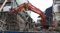 Demolition Of A Burnt-out Ruin In Constance 2 Stock Images - 35359124