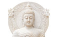 Half Buddha Status On White Background Royalty Free Stock Photo - 35367105