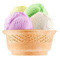 Ice-cream Scoops In Waffle Cup. Royalty Free Stock Image - 35372366
