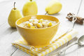 Porridge With Pear And Cinnamon Royalty Free Stock Image - 35385556