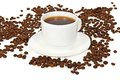 White Cup Of Coffee Stock Image - 35387621