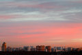 Delicate Pink And Blue Early Morning Sunrise Sky Royalty Free Stock Images - 35396609