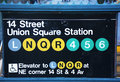 Union Square Subway Station Entrance At 14th Street In New York Stock Photography - 35398402