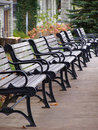 Row Of Benches In The Autumn Royalty Free Stock Photography - 3545977