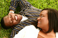 African American Couple Laying Royalty Free Stock Image - 3546556