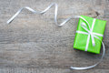 Gift Box With Bow Royalty Free Stock Photography - 35403277