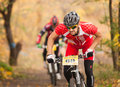 Members Of Bicycle Race Competition Passing Last Kilometers In Race Royalty Free Stock Photo - 35407195