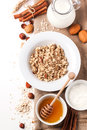 Muesli With Milk And Honey Royalty Free Stock Photography - 35408057