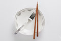 Chopsticks Fork Royalty Free Stock Photo - 35408155